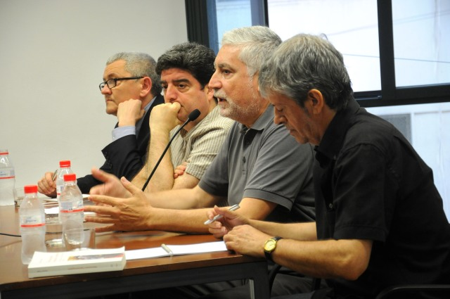 D'esquerra a dreta, Adolf Beltran, Francesc Viadel, Gustau Muñoz i Rafa Xambó. Jesús Prats.