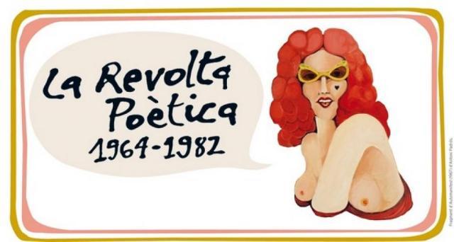 Cartell de l'exposició dedicada als poetes dels setanta que es pot visitar al Centre Arts santa Mònica de Barcelona.