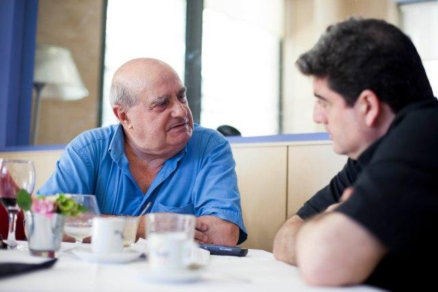 Marín en un moment de l'entrevista. Foto de Biel Aliño.