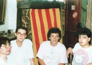 Reunió dels membres de L'Horabaixa a la segona meitat dels vuitanta.