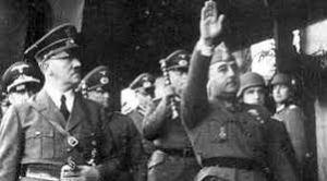 Franco i Hitler en Hendaya, 23 d'octubre de 1940.