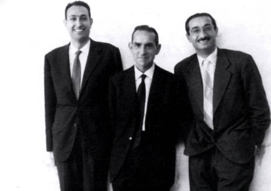 D'esquerra a dreta, Castellet, Espriu i Joan Fuster.