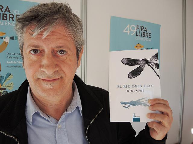 Imatge de l'autor Rafa Xambó a la darrera Fira del Llibre de València.