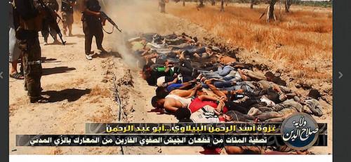 Presoners executats pels gihadistes a Iraq, estiu de 2014.