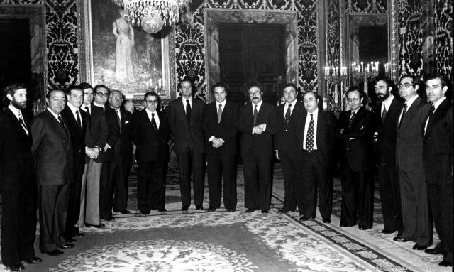 Josep Lluís Albiñana presideix el primer Consell, 1978.