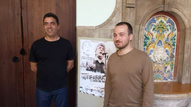 Pep Gimeno Botifarra i Albert Montón a València, el passat abril el dia de l'estrena del documental.
