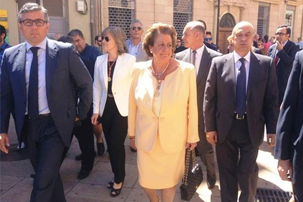 Rita Barberà, durant la seua darrera processó de Corpus, juny de 2015.