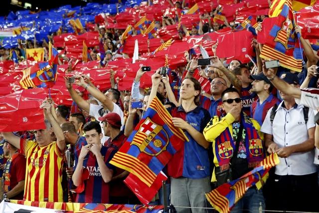 Xiulada durant el partit de la Copa del Rei a l'himne d'Espanya, Foto, ARA