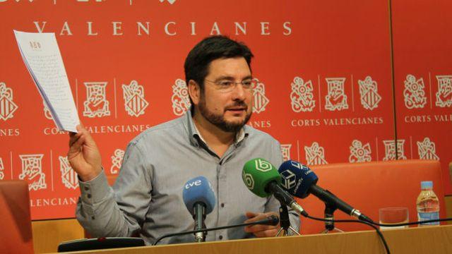 Ignacio Blanco en una de les seues intervencions a les Corts durant la passada legislatura.