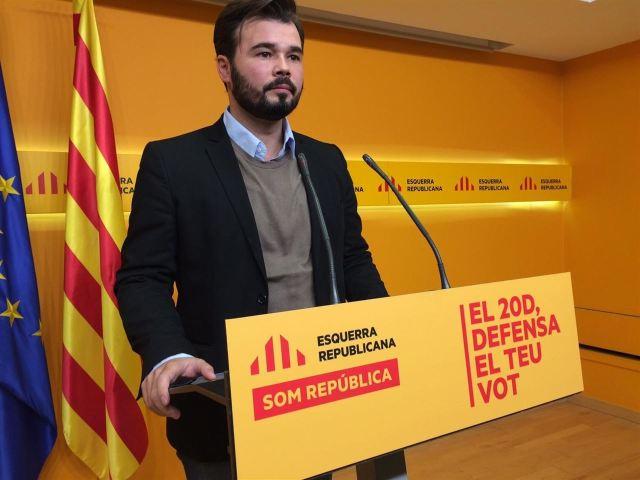 Gabriel Rufián, diputat d'ERC. Foto/Europa Press.