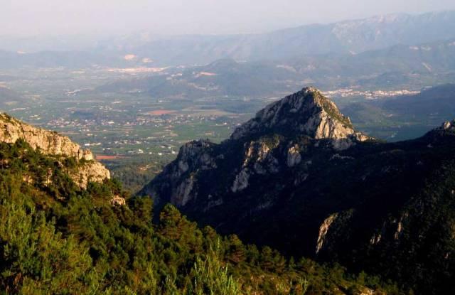 Paratge de la Drova, a La Safor, tan vinculat a la vida i obra de Piera.