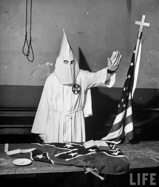 Membre KKK,1964. Foto, Life.