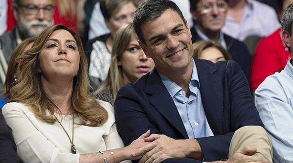 Els líders socialistes, Susana Díaz i Pedro Sánchez.