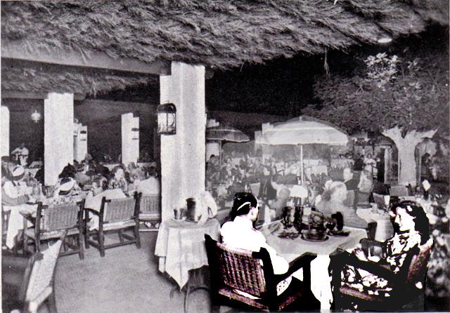 Interpretació d'una imatge de l'interior del restaurant California, 1940, Barcelona.