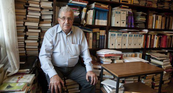 L'historiador Josep Fontana a seu domicili de Barcelona, Foto/UPF.