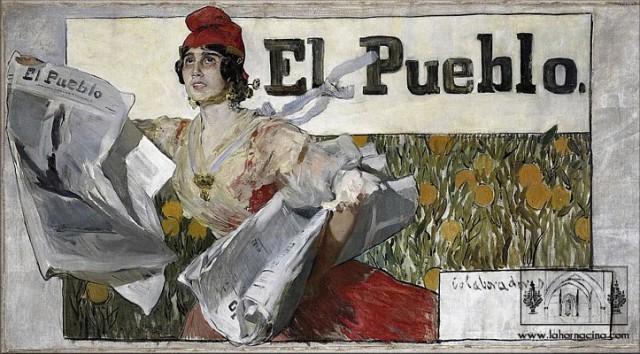 Boceto-de-cartel-para-el-diario-El-Pueblo-Joaquín-Sorolla-Colección-Pere-Maria-Orts-i-Bosch